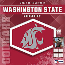 Turner Licensing; Team Wall Calendar, 12 inch; x 12 inch;, Washington State Cougars, January to December 2017