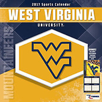 Turner Licensing; Team Wall Calendar, 12 inch; x 12 inch;, West Virginia Mountaineers, January to December 2017