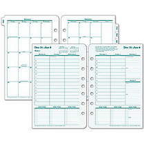 FranklinCovey; Original Design™ Planner Refill, 5 1/2 inch; x 8 1/2 inch;, 30% Recycled, 2 Pages Per Week, January-December 2016
