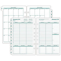 FranklinCovey; Original Design™ Planner Refill, 5 1/2 inch; x 8 1/2 inch;, 30% Recycled, 2 Pages Per Week, January-December 2017