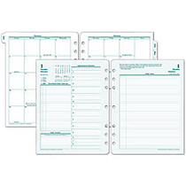 FranklinCovey; Original Design™ Planner Refill, 8 1/2 inch; x 11 inch;, 30% Recycled, 2 Pages Per Day, January-December 2016