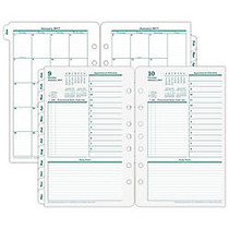 FranklinCovey; Planning Pages Refill, 5 1/2 inch; x 8 1/2 inch;, 30% Recycled, January to December 2017