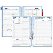 FranklinCovey; Seasons Planner Refills, 5 1/2 inch; x 8 1/2 inch;, 30% Recycled, 2 Pages Per Day, January–December 2016