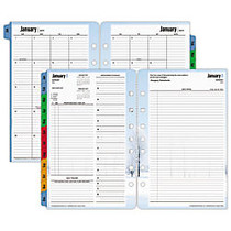 FranklinCovey; Seasons Planner Refills, 5 1/2 inch; x 8 1/2 inch;, 30% Recycled, 2 Pages Per Day, January–December 2017