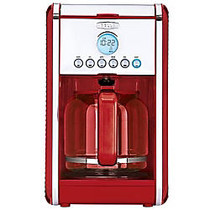 Bella Linea Collection 12-Cup Programmable Coffee Maker, Red