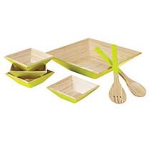 Orbit 7-Piece Salad Bowl Set, Green