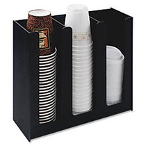 Vertiflex™ Cup And Lid Holder Organizer, For 32 Oz. Cups, Black