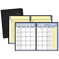 QuickNotes; 30% Recycled Monthly Self-Management System, 6 7/8 inch; x 8 3/4 inch;, Black, January-December 2017