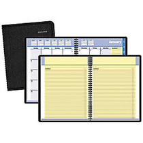 QuickNotes; Monthly Self-Management System, 8 1/4 inch; x 10 7/8 inch;, Black, January-December 2017