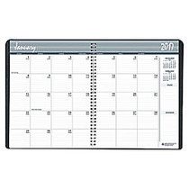 SKILCRAFT; 14-Month Monthly Planner, 8 1/2 inch; x 11 inch;, 50% Recycled, Black, December 2016 to January 2018 (AbilityOne 7530-01-600-7611)