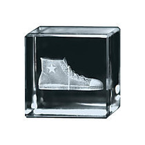 inch;Extra Distance inch; 3D Crystal Cube Paperweight