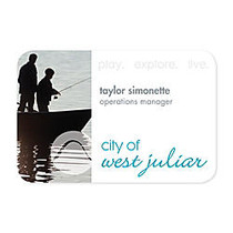 Full-Color Printed Name Badge, 2 inch; x 3 inch;
