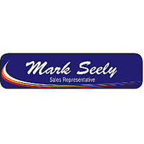 Full-Color Printed Name Badge, 3/4 inch; x 3 inch;