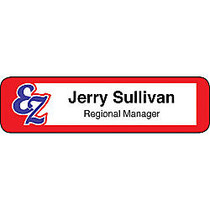 Full-Color Printed Name Badge, 7/8 inch; x 3 1/4 inch;