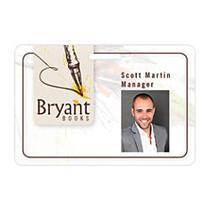 Taylor Full-Color ID Badge, Horizontal, 2 inch; x 3 inch;, White