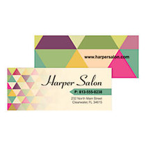 Taylor Full-Color Mini Business Cards, Matte, 2 3/4 inch; x 1 1/8 inch;, Box Of 100