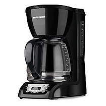 Black & Decker DLX1050B 12-Cup Programmable Coffee Brewer, Black