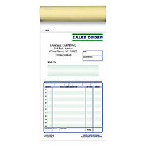 Sales Order Books, 2-Part, 4 1/4 inch; x 7 inch;, 50 Sets Per Book, Pack Of 10 Books