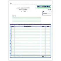 Sales Order Forms, Ruled, 3-Part, 8 1/2 inch; x 11 inch;, Box Of 250