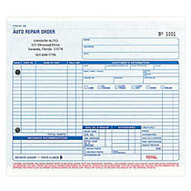Work-Order Forms, Auto Repair, With Carbon, 3-Part, 8 1/2 inch; x 7 inch;, Box Of 250