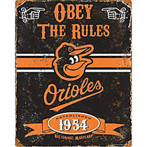 Party Animal Baltimore Orioles Embossed Metal Sign