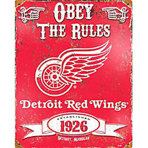 Party Animal Detroit Red Wings Embossed Metal Sign