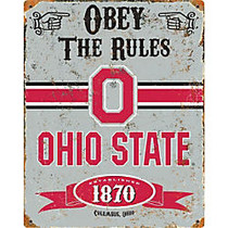 Party Animal Ohio State Buckeyes Embossed Metal Sign