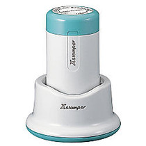 ECO-GREEN Xstamper; Pre-Inked Round XpeDater; Stamp, N85, Large, 84% Recycled, 1 1/4 inch; Diameter Impression