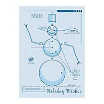 Sample Holiday Card, Snowman Blueprint