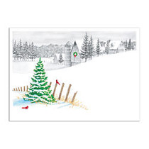 Taylor FSC Certified Personalized Economy Cards, 7 inch; x 5 inch;, Holiday Impression, Box Of 25