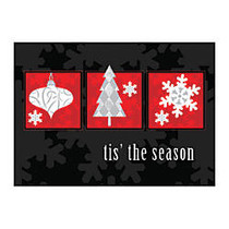Taylor FSC Certified Personalized Economy Cards, 7 inch; x 5 inch;, Holiday Wonders, Box Of 25