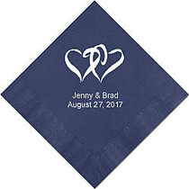 Luncheon Napkins, 6 1/2 inch; x 6 1/2 inch;, Navy Blue, Box Of 100