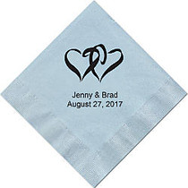 Luncheon Napkins, 6 1/2 inch; x 6 1/2 inch;, Sky Blue, Box Of 100