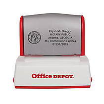 Office Wagon; Brand Pre-Inked Notary Stamp, 1 1/2 inch; x 2 7/16 inch; Impression