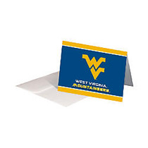 Markings by C.R. Gibson; Note Cards, 4 inch; x 5 1/2 inch;, West Virginia Mountaineers, Pack Of 12