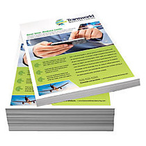Full-Color Gloss Flyers, 8 1/2 inch; x 11 inch;, 12 Pt, White, Pack Of 50