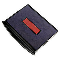 2000 PLUS; 2-Color Self-inking Dater Replacement Pad, Red/Blue, 1 inch; x 1 5/8 inch; Impression