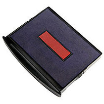 2000 PLUS; 2-Color Self-inking Dater Replacement Pad, Red/Blue, 2 inch; x 2 3/4 inch; Impression