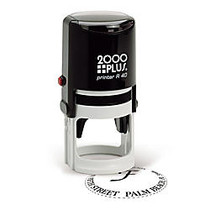 2000 PLUS; R40 Self-Inking Round Stamp With Microban;, 1 9/16 inch; Diameter Impression
