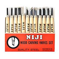 Yasutomo Niji Woodcarving Tools, Set Of 12