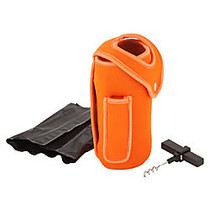 ZEVRO; by Honey Can Do; Wine Bottle Glove With Cooling Pack, Orange