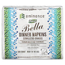 Marcal; Eminence Bella 100% Recycled Dinner Napkins, 2-Ply, 17 inch; x 15 inch;, White, Case Of 100