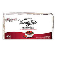Vanity Fair; Everyday Napkins, 2 Ply, 13 inch; x 12 3/4 inch;, White, 400 Sheets