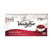 Vanity Fair; Everyday Napkins, 2 Ply, 13 inch; x 6 inch;, White, 300 Sheets