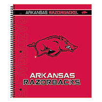 Markings by C.R. Gibson; Notebook, 9 1/8 inch; x 11 inch;, 3 Subject, College Ruled, 300 Pages (150 Sheets), Arkansas Razorbacks