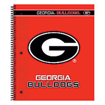 Markings by C.R. Gibson; Notebook, 9 1/8 inch; x 11 inch;, 3 Subject, College Ruled, 300 Pages (150 Sheets), Georgia Bulldogs