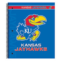 Markings by C.R. Gibson; Notebook, 9 1/8 inch; x 11 inch;, 3 Subject, College Ruled, 300 Pages (150 Sheets), Kansas Jayhawks