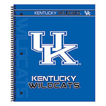 Markings by C.R. Gibson; Notebook, 9 1/8 inch; x 11 inch;, 3 Subject, College Ruled, 300 Pages (150 Sheets), Kentucky Wildcats