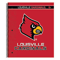 Markings by C.R. Gibson; Notebook, 9 1/8 inch; x 11 inch;, 3 Subject, College Ruled, 300 Pages (150 Sheets), Louisville Cardinals