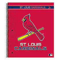 Markings by C.R. Gibson; Notebook, 9 1/8 inch; x 11 inch;, 3 Subject, College Ruled, 300 Pages (150 Sheets), St. Louis Cardinals